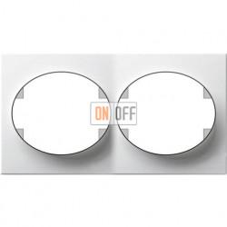 Рамка двухместная горизонтальная ABB Tacto (белая) 5572.1 BL