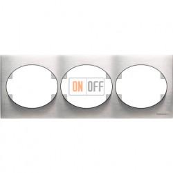 Рамка трехместная горизонтальная ABB Tacto (сталь) 5573.1 OX