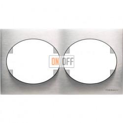 Рамка двухместная горизонтальная ABB Tacto (сталь) 5572.1 OX
