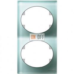 Рамка двухместная вертикальная Tacto (стекло лазурь) 5572 CG