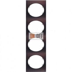 Рамка четырехместная вертикальная ABB Tacto (венге) 5574 WG