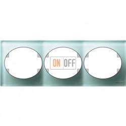 Рамкатрехместная горизонтальная Tacto (стекло лазурь) 5573.1 CG