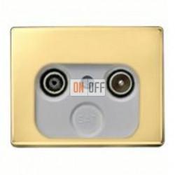 Розетка телевизионная проходная TV FM, диапазон частот от 4 до 2400 MГц 12020002 - S2900-10
