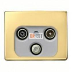 Розетка телевизионная оконечная TV SAT FM, диапазон частот от 4 до 2400 MГц 12020002 - S4100