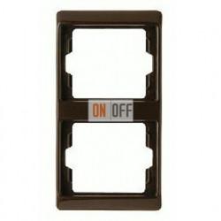 Рамка двойная, для вертикального монтажа Berker Arsys, коричневый глянцевый 13230001