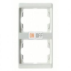 Рамка двойная, для вертикального монтажа Berker Arsys, белый глянцевый 13230069