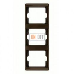 Рамка тройная, для вертикального монтажа Berker Arsys, коричневый глянцевый 13330001