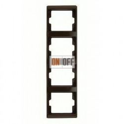 Рамка четверная, для вертикального монтажа Berker Arsys, коричневый глянцевый 13430001