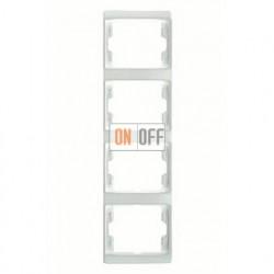 Рамка четверная, для вертикального монтажа Berker Arsys, белый глянцевый 13430069