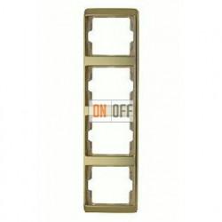 Рамка четверная, для вертикального монтажа Berker Arsys, золото 13440002