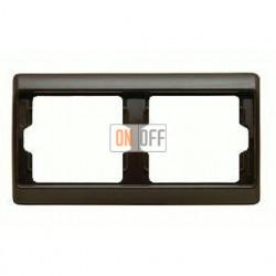 Рамка двойная, для горизонтального монтажа Berker Arsys, коричневый глянцевый 13630001