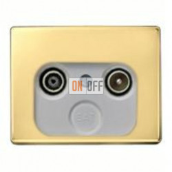 Розетка телевизионная оконечная TV FM, диапазон частот от 4 до 2400 MГц S2900 - 12020002