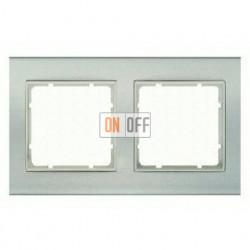 Рамка двойная, для горизонтального/вертикального монтажа Berker B.3 алюминий-белый 10123904
