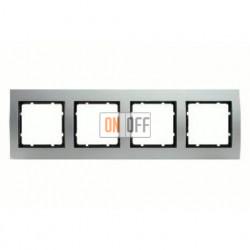 Рамка четверная, для гориз./вертик. монтажа Berker B.3 алюминий-антрацит 10143004