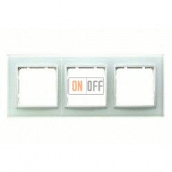 Рамка тройная, для гориз./вертик. монтажа Berker B.7 Glass белое стекло 10136909