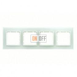 Рамка четверная, для гориз./вертик. монтажа Berker B.7 Glass белое стекло 10146909