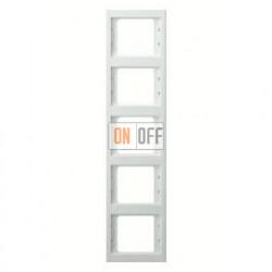 Рамка пятерная, для вертикального монтажа Berker K.1, белый глянцевый 13537009