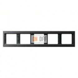 Рамка пятерная, для горизонтального монтажа Berker K.1, антрацит 13937006