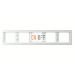 Рамка пятерная, для горизонтального монтажа Berker K.1, белый глянцевый 13937009