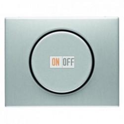 Светорегулятор поворотно-нажимной 60-400 Вт. для ламп накаливания и галог.220В, металл алюминий 283010 - 11357003