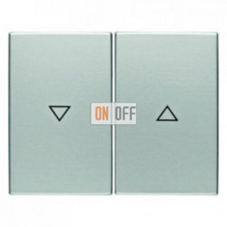 Выключатель управления жалюзи 2-х кнопочный, 10 А / 250 В~, металл алюминий 14357103 - 503520