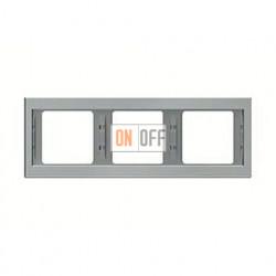 Рамка тройная, для горизонтального монтажа Berker K.5  нержавеющая сталь 13737004