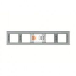 Рамка пятерная, для горизонтального монтажа Berker K.5  нержавеющая сталь 13937004