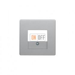 Розетка USB двойная, для зарядка, 1,4 А, вставка антрацит, алюминий с эффектом бархата 260005 - 10336084