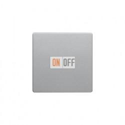 Выключатель одноклавишный, универс. (вкл/выкл с 2-х мест) 10 А / 250 В~ алюминий с эффектом бархата 16206084 - 3036