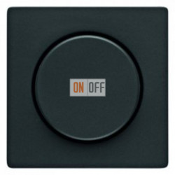Светорегулятор поворотный 60-600 Вт. для ламп накаливания и галог.220В, антрацит 286010 - 11376086
