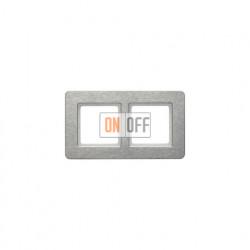 Рамка двойная Berker Q.7  для горизонтальной установки нержавеющая сталь 10226083