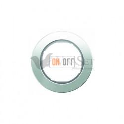 Рамка одинарная Berker R.classic белое стекло 10112009