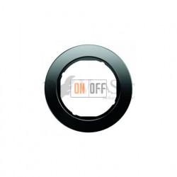 Рамка одинарная Berker R.classic черное стекло 10112016
