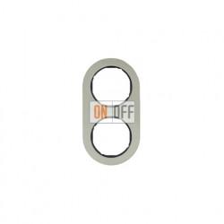 Рамка двойная Berker R.classic нержавеющая сталь/черный 10122004