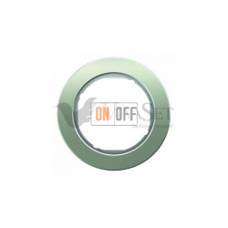 Рамка одинарная Berker R.classic нержавеющая сталь/полярная белизна 10112014