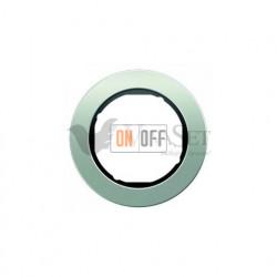 Рамка одинарная Berker R.classic алюминий/черный 10112084