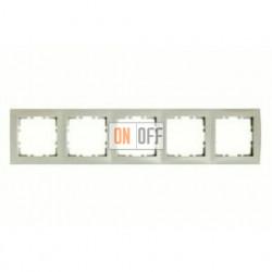 Рамка пятерная Berker S.1 кремовый глянцевый 10158982