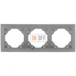 Рамка тройная  Efapel logus 90 алюминий 90930 TAL