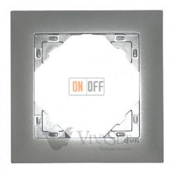 Рамка одинарная  Efapel logus 90 алюминий 90910 TAL