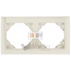 Рамка двойная Efapel logus 90 жемчуг 90920 TPE