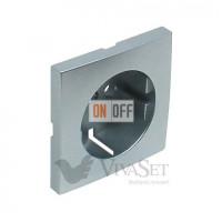 Розетка электрическая с заземлением с защитными шторками винтовые зажимы 16A 250V~ Efapel logus 90 алюминий 21131 - 90632 TAL