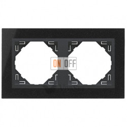Рамка двойная Efapel logus 90 гранит/серый 90920 TGS