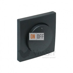 """Поворотно-нажимной диммер для ламп накаливания """" 20 - 500Вт  Efapel logus 90 серый 21211 - 90721 TIS"""
