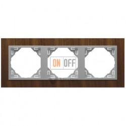 Рамка тройная Efapel logus 90 орех/алюминий 90930 TNA