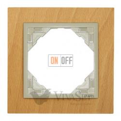 Рамка одинарная Efapel logus 90 бук/жемчуг 90910 TFP