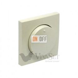 """Поворотно-нажимной диммер для ламп накаливания """" 20 - 500Вт  Efapel logus 90 жемчуг 21211 - 90721 TPE"""