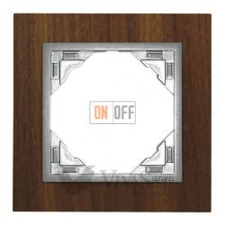 Рамка одинарная Efapel logus 90 орех/алюминий 90910 TNA