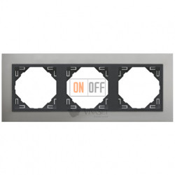 Рамка тройная Efapel logus 90 алюминий/серый 90930 TUS