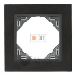 Рамка одинарная Efapel logus 90 никель/серый 90910 TQS