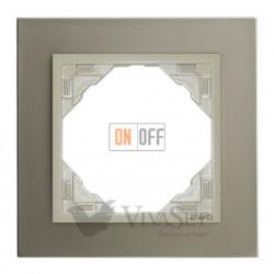Рамка одинарная Efapel logus 90 титан/жемчуг 90910 TTP
